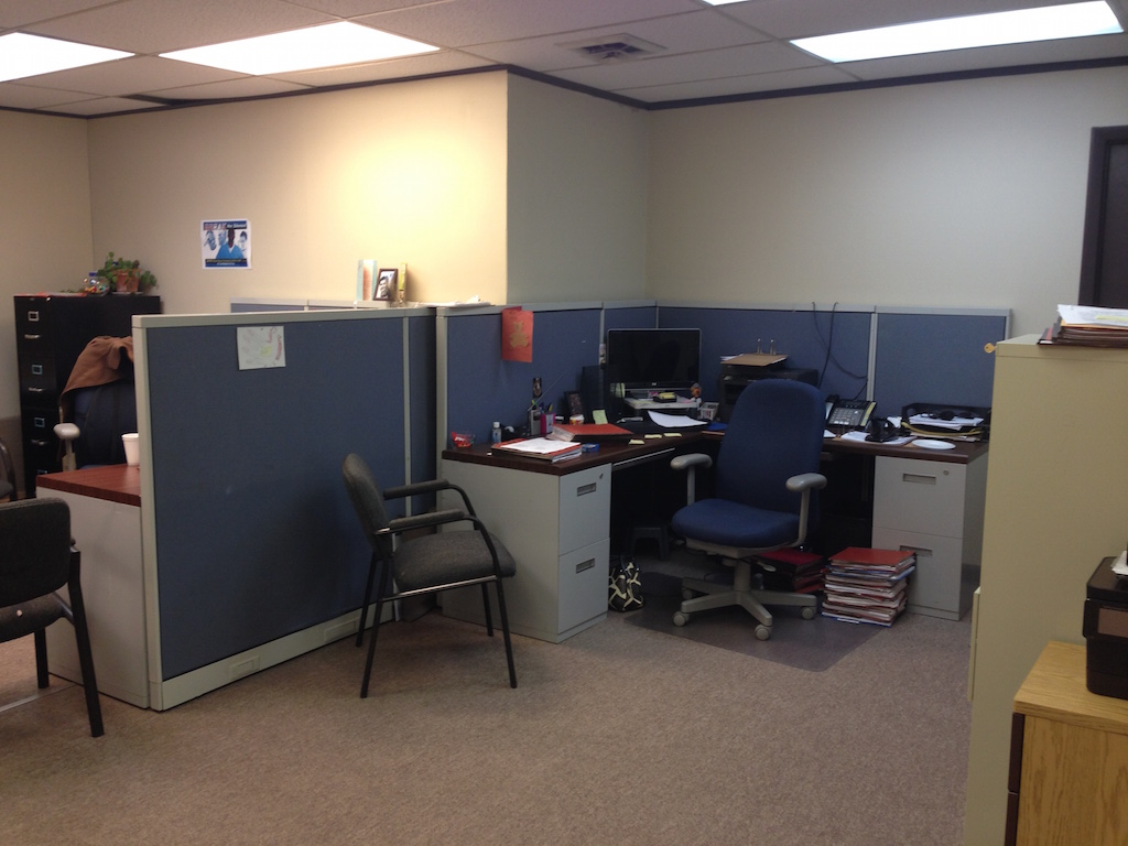 New offices are only part of the extensive remodeling work going on at Hay House's new facility.